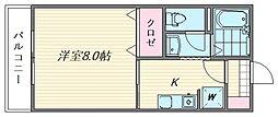 セジュールM・S[211号室]の間取り