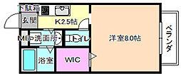 大阪府枚方市枚方上之町の賃貸アパートの間取り