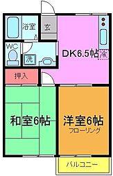 千葉県市川市本北方1の賃貸アパートの間取り