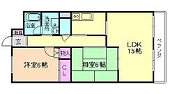 ロイヤルグレース上野東[1階]の間取り