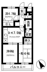 シャンボール武蔵野[4階]の間取り