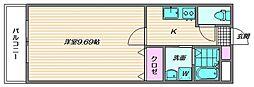 ソネット香住ヶ丘[3階]の間取り