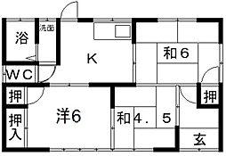 [一戸建] 岡山県倉敷市玉島乙島 の賃貸【/】の間取り