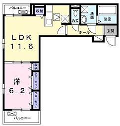JR東海道本線 茅ヶ崎駅 バス14分 柳島下車 徒歩2分の賃貸アパート 1階1LDKの間取り