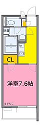 JR東北本線 白岡駅 徒歩23分の賃貸マンション 1階1Kの間取り