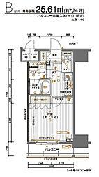 JR山手線 神田駅 徒歩4分の賃貸マンション 7階1Kの間取り