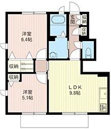サニーコート千代田A棟[1階]の間取り