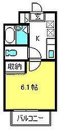 メゾンヴィトライユ[2階]の間取り