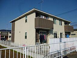 茨城県筑西市伊讃美の賃貸アパートの外観