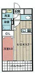 福岡市地下鉄箱崎線 千代県庁口駅 徒歩4分の賃貸マンション 9階1LDKの間取り