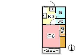 宮原マンション福井[1階]の間取り