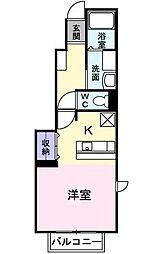 エレガント トキワ A棟[1階]の間取り