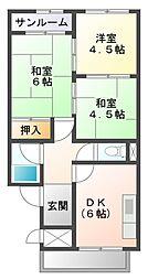 愛知県豊田市陣中町2丁目の賃貸マンションの間取り