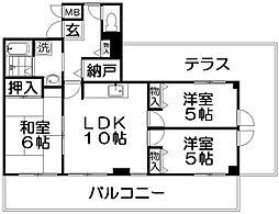 香里園オークヒルズII[7階]の間取り