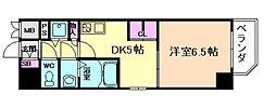 プレサンス江戸堀[9階]の間取り