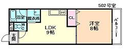 KTI南森町[6階]の間取り