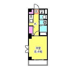 HIYOSHI A-IV[201号室]の間取り