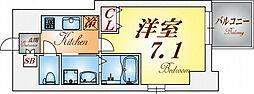 エスプレイス神戸ウエストモンターニュ[7階]の間取り