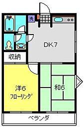 神奈川県横浜市港南区丸山台4丁目の賃貸アパートの間取り