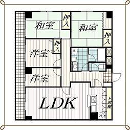 フジタマンション[3階]の間取り