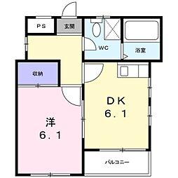 神奈川県川崎市多摩区生田1丁目の賃貸マンションの間取り