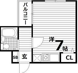 フローラル板宿[6階]の間取り