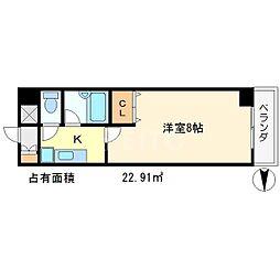 アーベイン吉田[1階]の間取り