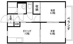 メゾンドスリーゼII[2階]の間取り