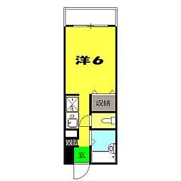 サンクレージュ横浜片倉[302号室]の間取り