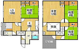 [一戸建] 北海道小樽市緑2丁目 の賃貸【/】の間取り