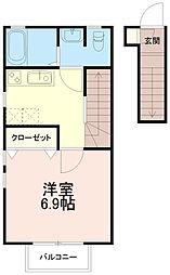 イストリア稲城[2階]の間取り