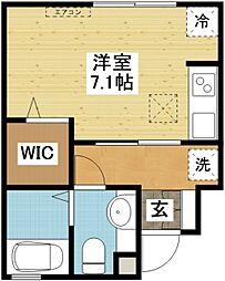 長崎県長崎市梁川町の賃貸アパートの間取り