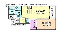 IL CUORE (イル クオーレ)[3階]の間取り