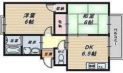 エステートピア浜寺[-2階]の間取り