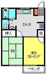 サンコーポ麻樹[102号室]の間取り