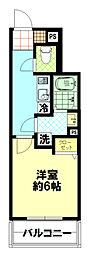 Forst Residenz Nakamurabashi[204号室]の間取り