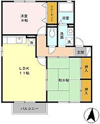 ファミーユ・ヒロ[2階]の間取り