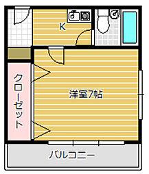 オーシャンビュー加美4階Fの間取り画像