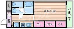 大阪府吹田市江坂町3丁目の賃貸マンションの間取り