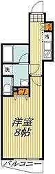 メイクスデザイン板橋本町2 4階1Kの間取り