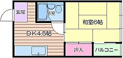 大阪府大阪市中央区日本橋1丁目の賃貸マンションの間取り