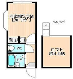 グランディール横濱[105号室]の間取り
