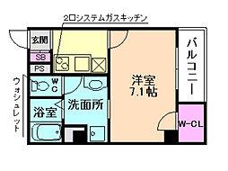 Core天満橋[6階]の間取り