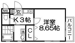 MYM[2階]の間取り