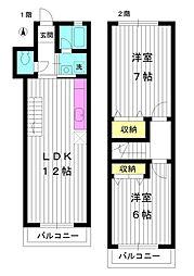 [テラスハウス] 東京都練馬区土支田3丁目 の賃貸【/】の間取り