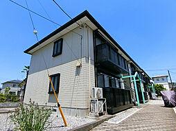 栃木県宇都宮市東岡本町の賃貸アパートの外観