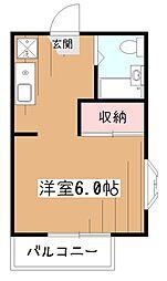 メゾンノビドメ[2階]の間取り