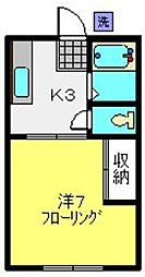 佐藤ハイツ[103号室]の間取り
