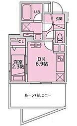 恵比寿YKマンション 4階1DKの間取り