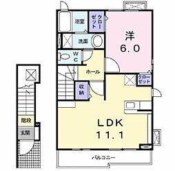 ブライト泉[2階]の間取り